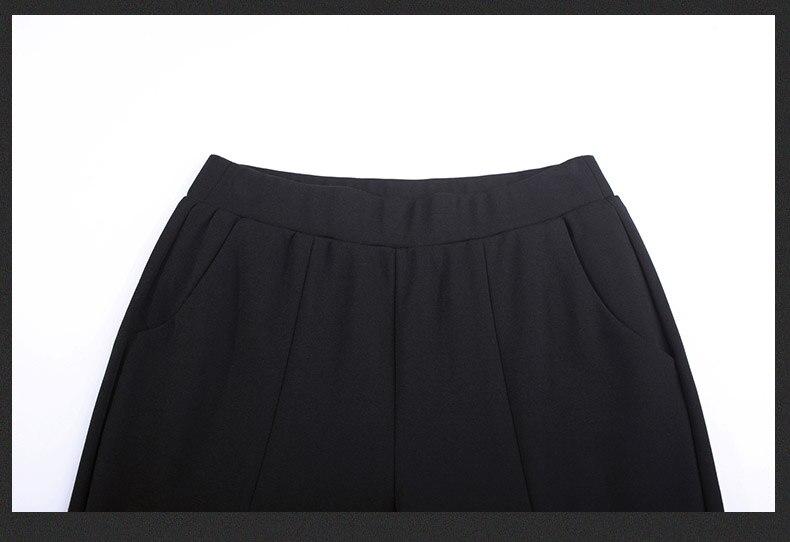 Formato Figura Classico end Delle Femminile High Modo Nero Signora Autunno Sottili xxxl S Di Stile Della Intera Più Flare Pantaloni Il Donne Cinese 74nqTqwZ