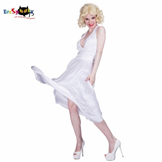 c39be18519e Women Sexy White dresses Costume Deluxe Halter Dress Cosplay Party Fancy  Dress for Female Adult Girl