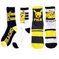 Presentes de feriado Japonês Harajuku Bonito Meias Womens & Mens Longo crew Socks Dos Desenhos Animados pokemon Pikachu Kawaii Meias De Compressão