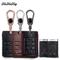 KUKAKEY Leather Car Key Case Cover Bag For Cadillac Escalade ATSL SRX XTS SLS CTS STS ATS 4 Buttons / 5 Buttons Key Holder