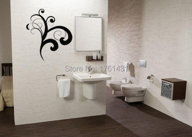 Hoek versiering bloem decoratie muur art decals woonkamer