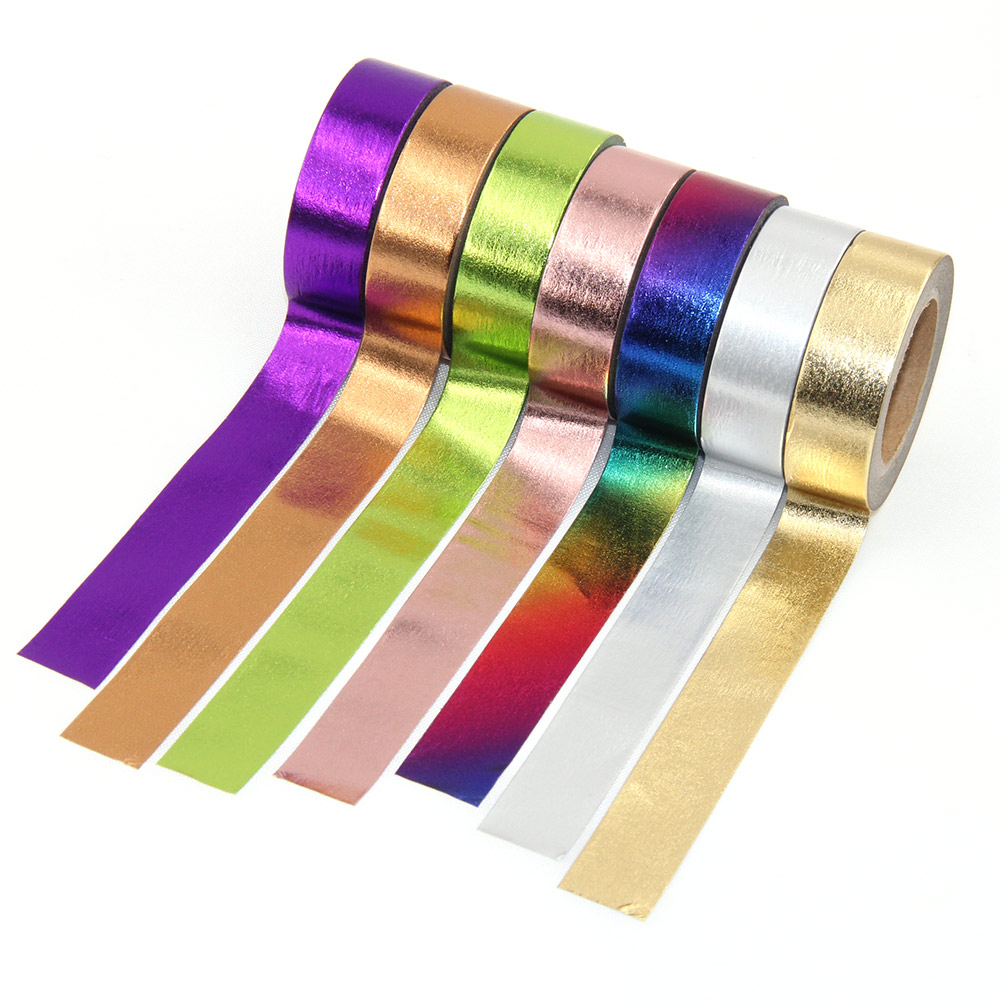 1pcs DIY Cute Kawaii Solid Color foil Washi Tape Lovely Adhesive Tape For Home Decoration Scrapbooking Free Shipping gold foil washi tape adhesive scrapbooking christmas party elk decoration tape kawaii photo album maskingtape