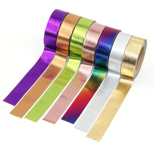 1pcs DIY Cute Kawaii Solid Color foil Washi Tape Lovely Adhesive Tape For Home Decoration Scrapbooking Free Shipping цена в Москве и Питере