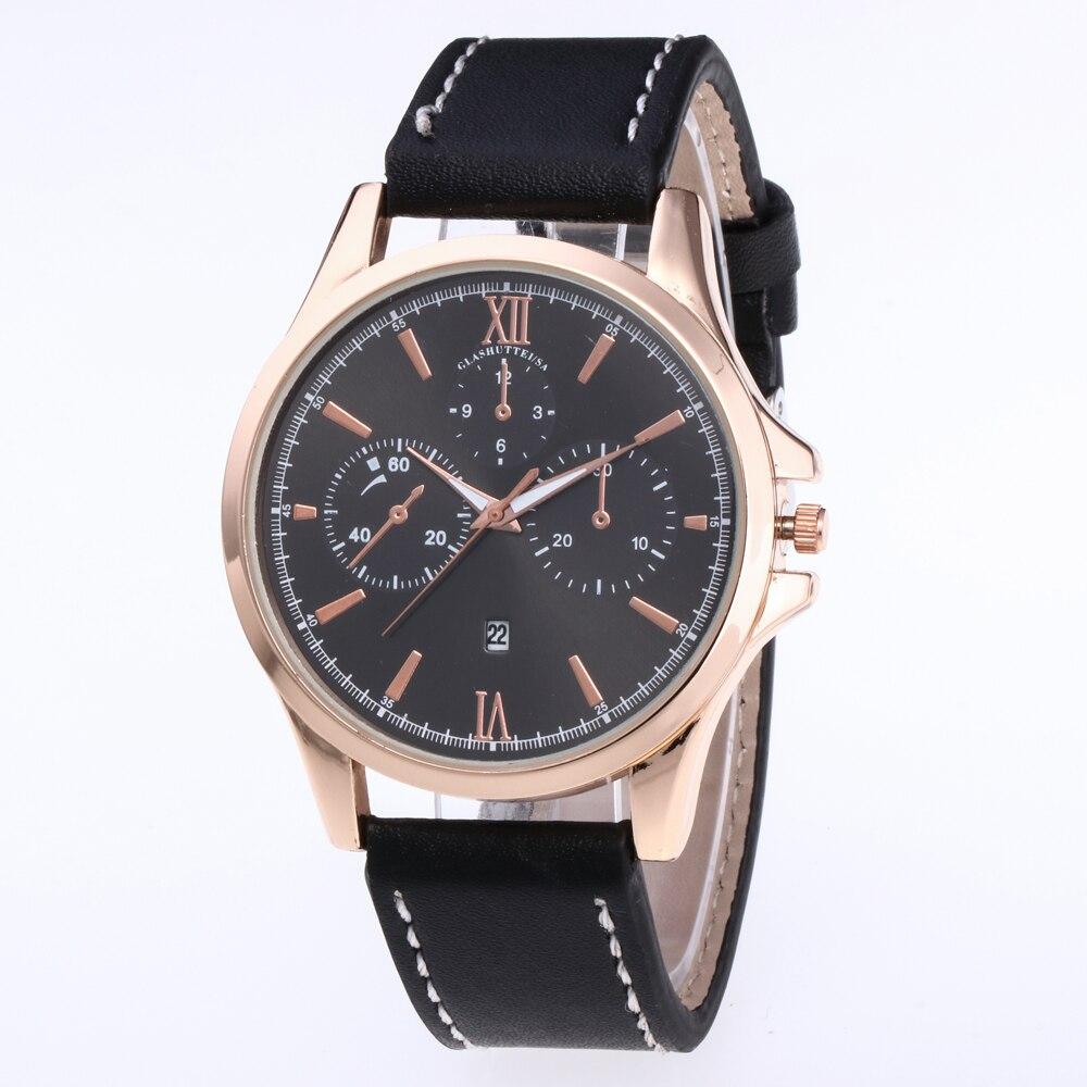 erkek kol saati Unique Coffee Brown Men Casual Watches Brand Quartz Clock for Men Classic Dress Wristwatch relojes para hombre