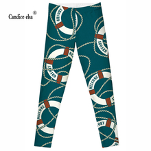 Leggings 2016 Fashion Plus Size Sexy Extra-terrestrial Digital Printing FitnessSize S-4XL Drop Shipping Life buoy&rope