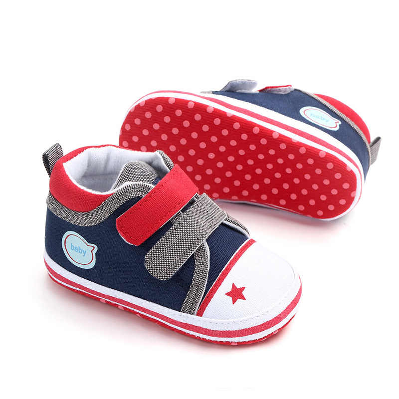Toddler Baby Boys Casual Shoes Antislip Soft Bottom Patchwork Shallow Canvas Baby Sneakers