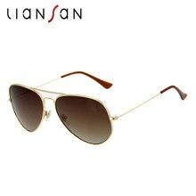 LianSan 2017 New Pilot Polarized Sunglasses Women Men Luxury Brand Designer Retro Aluminium Driving Fashion Male Black LSP02562
