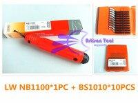 LEEWAY NB1100 Burr Kolu + 10 adet Çapak Alma Bıçakları BS1010 Kırpma Bıçak El Çapak Alma Aracı