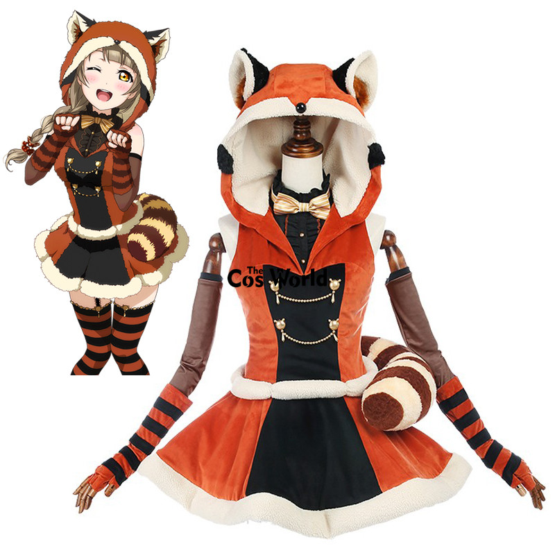 Love Live School Idol Project Kotori Minami Animal Hooded Dress Outfit Anime Cosplay Costumes