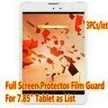 """3 unids Protector de Pantalla Para 7.85 """"teXet NaviPad TM-7858 3G TM-7887 Original de la Tableta de Clear Protector de Pantalla Completa Film envío Gratis"""