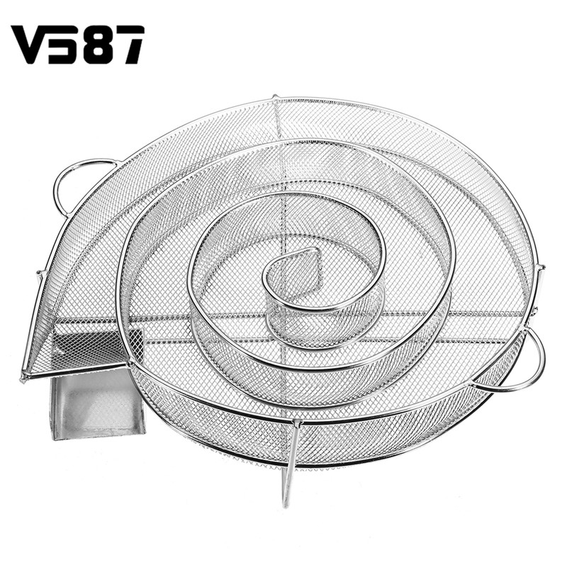 Stainless Steel Wood Chips Grill Basket Smoker Barbecue Cold Smoking Generator Tray Outdoor BBQ Cooking Tools Accessories
