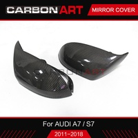 For Audi Carbon Fiber Side Wing Replace Rear View Rear view Mirror Cover Case With &without side lane assist for AUDI A7 S7 RS7