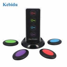 Kebidu 4 in 1 Advanced Wireless Key Finder Locator Remote Key Portafogli di Telefono Anti Perso con funzione di Torcia 4 ricevitori e 1 dock