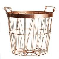 Gold Color Metal Storage Basket