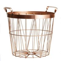 Gold Color Metal Storage Basket