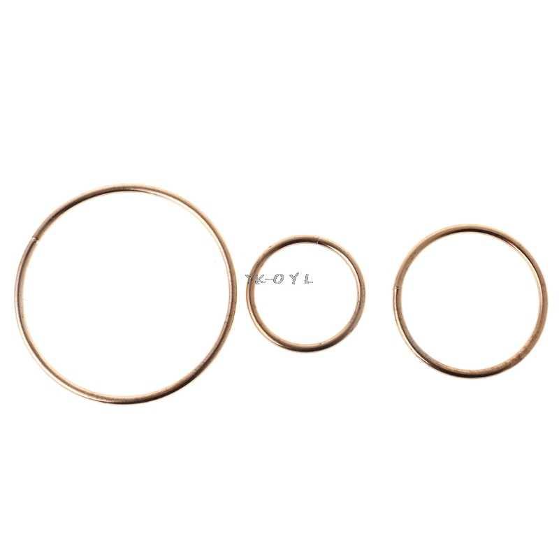 Bague attrape-rêves en métal 3.5-19cm | Anneau en macramé, accessoires artisanaux en or, accessoires à créer soi-même, 10 Szies, nouveau