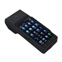 Android POS Terminal with Printer 5 inch Touch screen Rugged Handheld NFC Magnetic card reader payment pos terminal