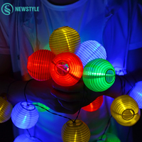 10 20 30 LED Waterproof Lantern Solar Lamps Holiday Garden Xmas Ball Fairy LED String Lights Colorful Christmas Outdoor Lighting