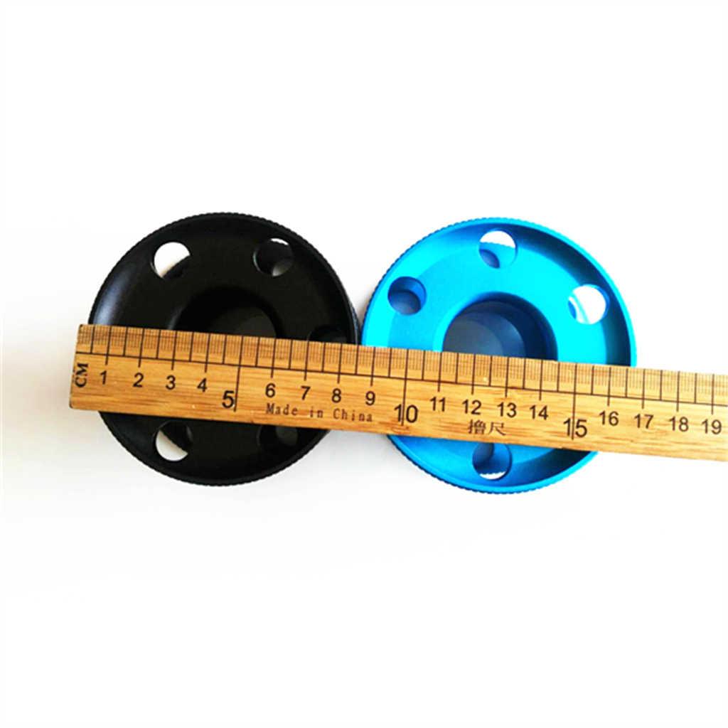 Perfeclan 2 adet Dayanıklı Alüminyum Alaşımlı Tüplü Dalış Parmak Makara Dalış Makara için Mağara Dalış Sualtı Balıkçılık Ekipmanları siyah ve Mavi