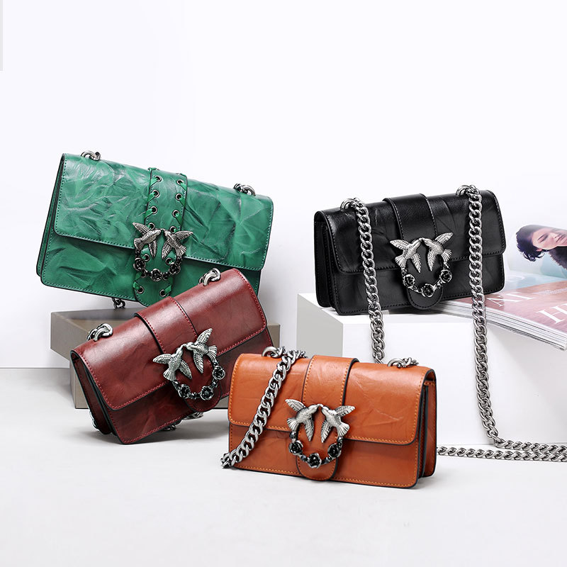 Designer Inspired Fashion Handbag Women Shoulder Bag Genuine Leather Classic Birds Flap Messenger Bags funky fashion designer