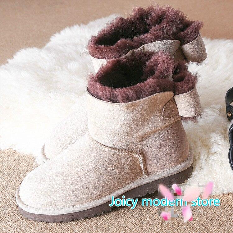 Подробнее о Genuine Sheepskin Leather Snow Boots Natural Fur Winter Boots HighQuality Fashion  Waterproof Warm Wool boots Women Boots genuine sheepskin leather snow boots hot sale women100