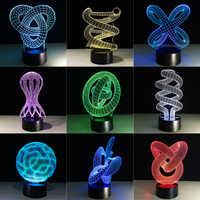 Creativa lámpara de ilusión 3D LED luz de noche 3D abstracto artista gráficos Lamparas atmósfera lámpara novedad iluminación decoración del hogar
