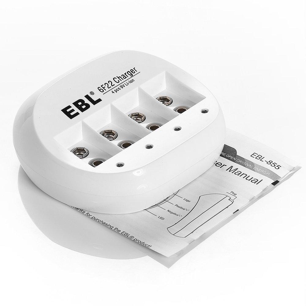 EBL <font><b>6F22</b></font> 9 В Литий-Ионная Аккумуляторная Батарея Зарядное Устройство Бесплатная Доставка