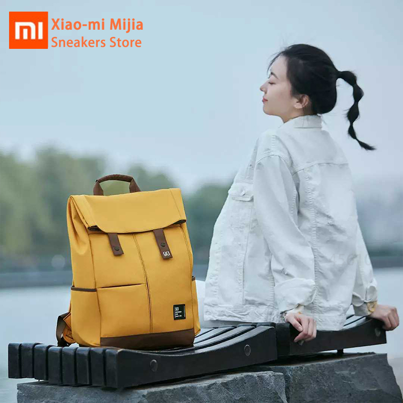 Xiaomi Mijia 90 Points College Leisure Backpack Magnetic Buckle OX4 Waterproof Fashion Large Capacity Laptop Men Women Backpack