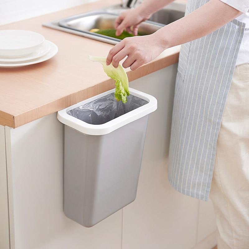 Creative Kitchen Hanging Trash Cans Cabinet Door Hanging Plastic
