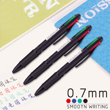 4 in 1 MultiColor Pen Creative Ballpoint Colorful Retractable Pens Multifunction For Marker Writing Stationery