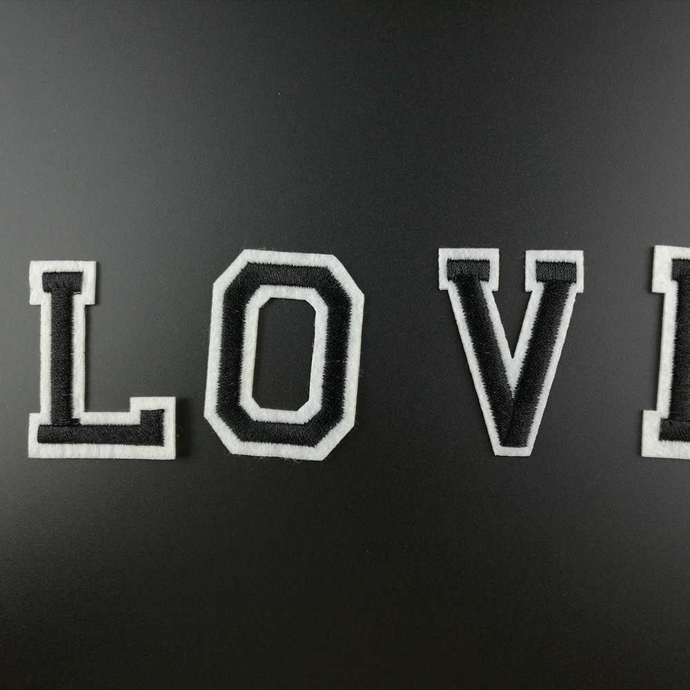 Chữ Cái tiếng anh Quần Áo Thêu Các Bản Vá Lỗi cho Quần Áo DIY Sọc Motif Appliques Huy Hiệu May Mặc Phim Hoạt Hình Sắt on Patch