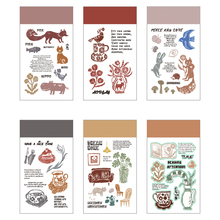 Clear stamp Animal Stamps Flower 2020 new Silicone Rubber Craft stamps for Scrapbooking Decoration Paper card making