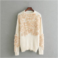 NYMPH Pull Femme 2017 Autumn Winter Women Sweaters And Pullovers Faux Fur Mink Cashmere Knitting Sweater Female Loose Plus Size