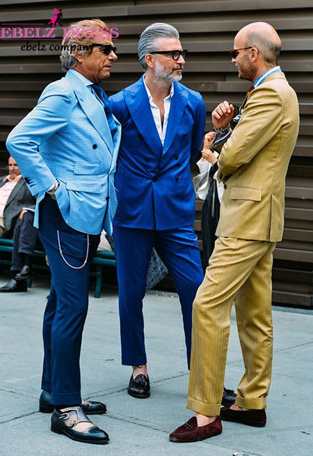 New 2015 Man Royal Blue Wedding Suit Tuxedo Double ...