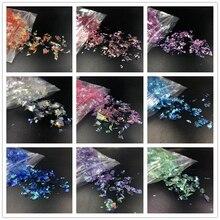 10g/lot Irregular Shell Paper broken DIY Nail Flakies Colorful Paillette Glitter Art Sequins for 3D Decoration