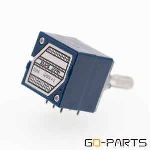Image 3 - GD PARTS 1 шт. Япония ALPS RK27 Dual 2x100KA стерео потенциометр громкости тревожный аттенюатор 6 мм рифленый вал HIFI аудио DIY