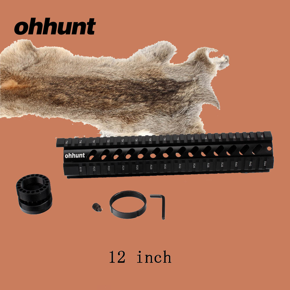 ohhunt Hunting Tactical T-Series 12 Inch Free Quad Picatinny - Gjuetia