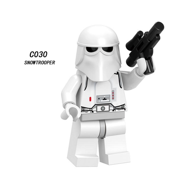 Single Sale Super Heroes Star Wars Snowtrooper 030 Model Building Blocks Figure Bricks Toys Kids Gifts Compatible Legoed Ninjaed