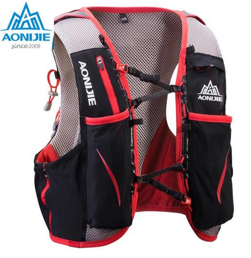 ae0e66894d AONIJIE Outdoor Sports Running Backpack 5L Marathon Hydration Vest Pack  Water Bladder Hiking Camping Running Marathon Race