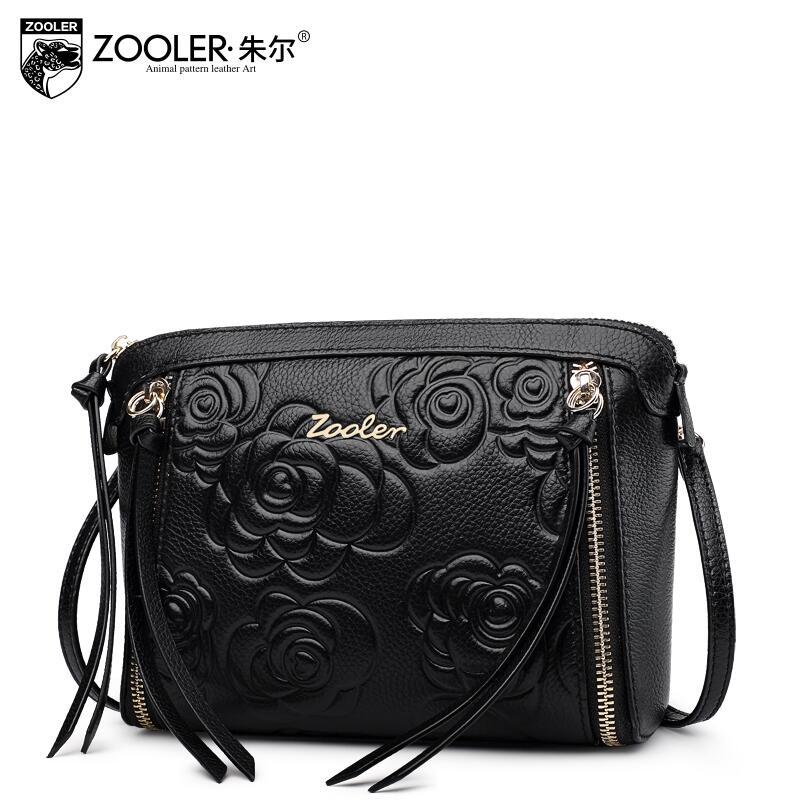 ФОТО ZOOLER 2017 New Superior cowhide Genuine Leather fashion luxury handbags women bags designer Embossed women shoulder bag