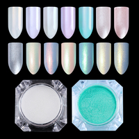 1Box 1.5g 2g Mirror Diamond Pearl Powder Shimmer Mermaid Nail Glitter Pigment DIY Glitter Powder Nail Art Powder Dust 9 Patterns