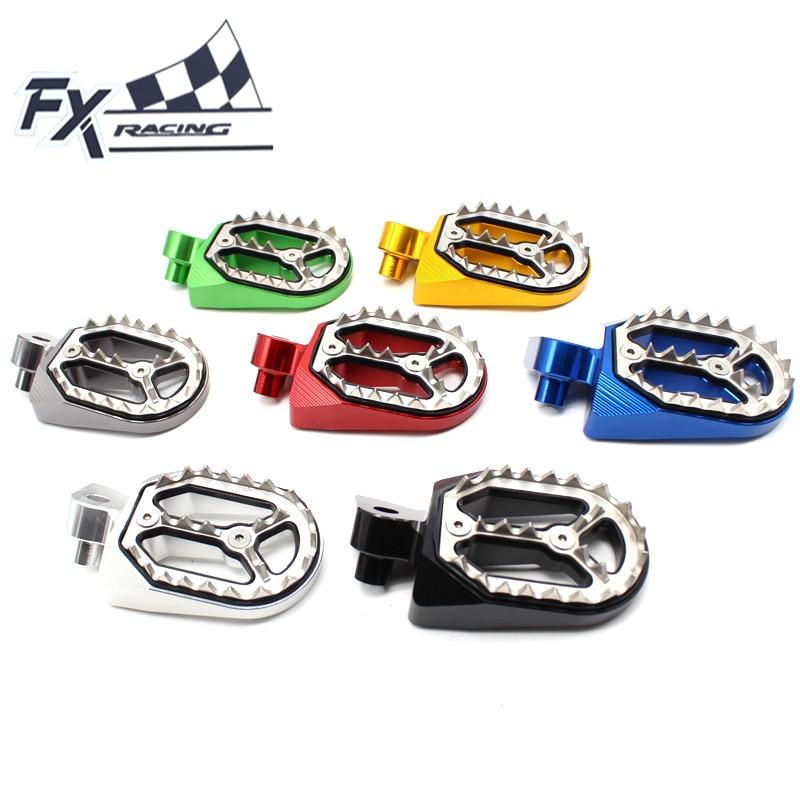 CNC Aluminum Dirt Bike Pit Motocross Foot Peg Pedal Footpegs For Yamaha YZ85 YZ125 YZ250 YZF