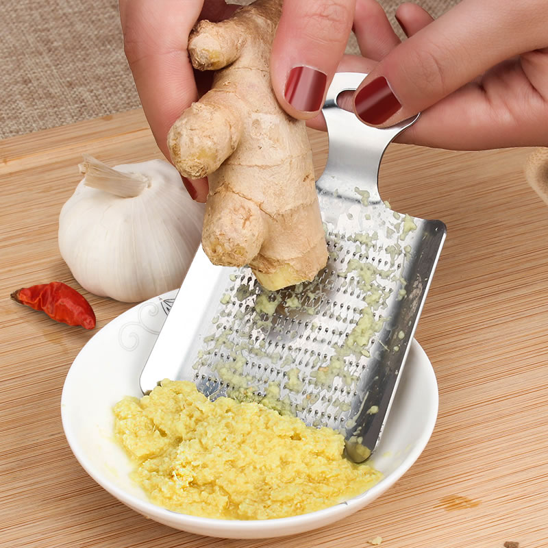 1 pièces gingembre ail Wasabi râpe concasseur ail presse dispositif hachoir Cutter Garlics éplucheur cuisine outils acier inoxydable 1