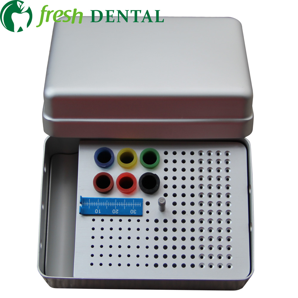 Dental 180 holes Bur Holder For Root canal file gutta percha root socket box disinfection box sterilization Bur Holder box SL314 3s flash heat dental gutta cutter with 4tips percha tooth cutter endo dissolved breaker cutter dental lab instrument blanchiment