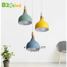 E27 Modern LED Pendant Light Home Dining Room Ceiling Lamp Metal Lampshae Restaurant Bar Decoration Lighting Fixture