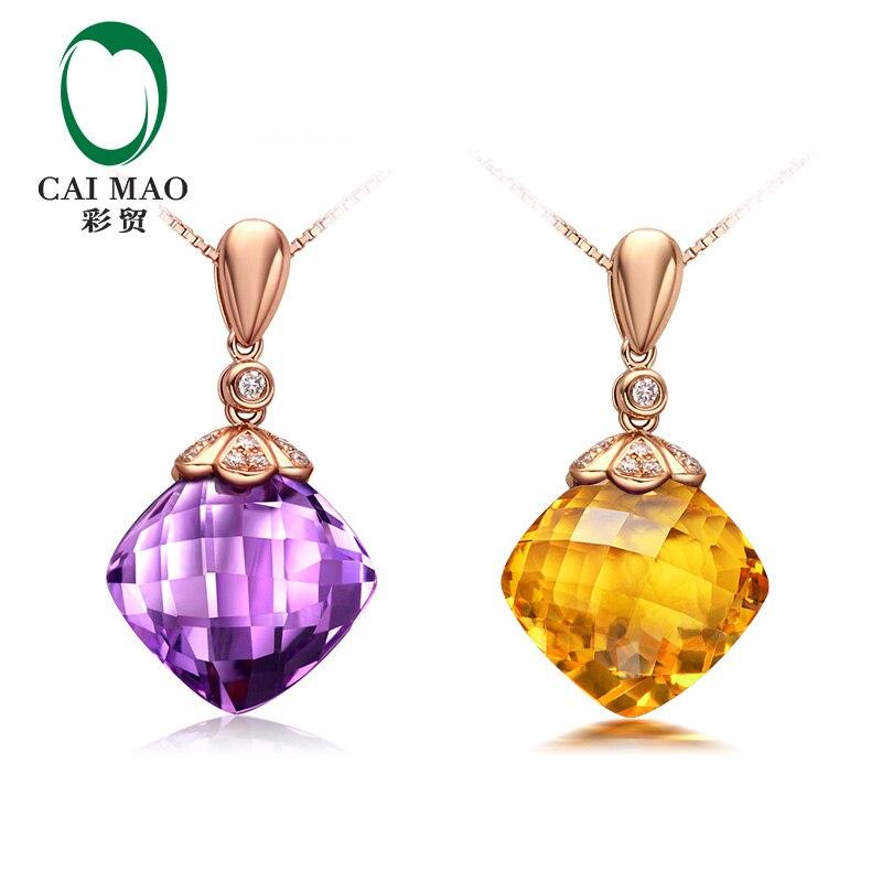 CaiMao զարդեր 12x12 մմ 7.56ct բարձի ամեթիստ / - Նուրբ զարդեր - Լուսանկար 6