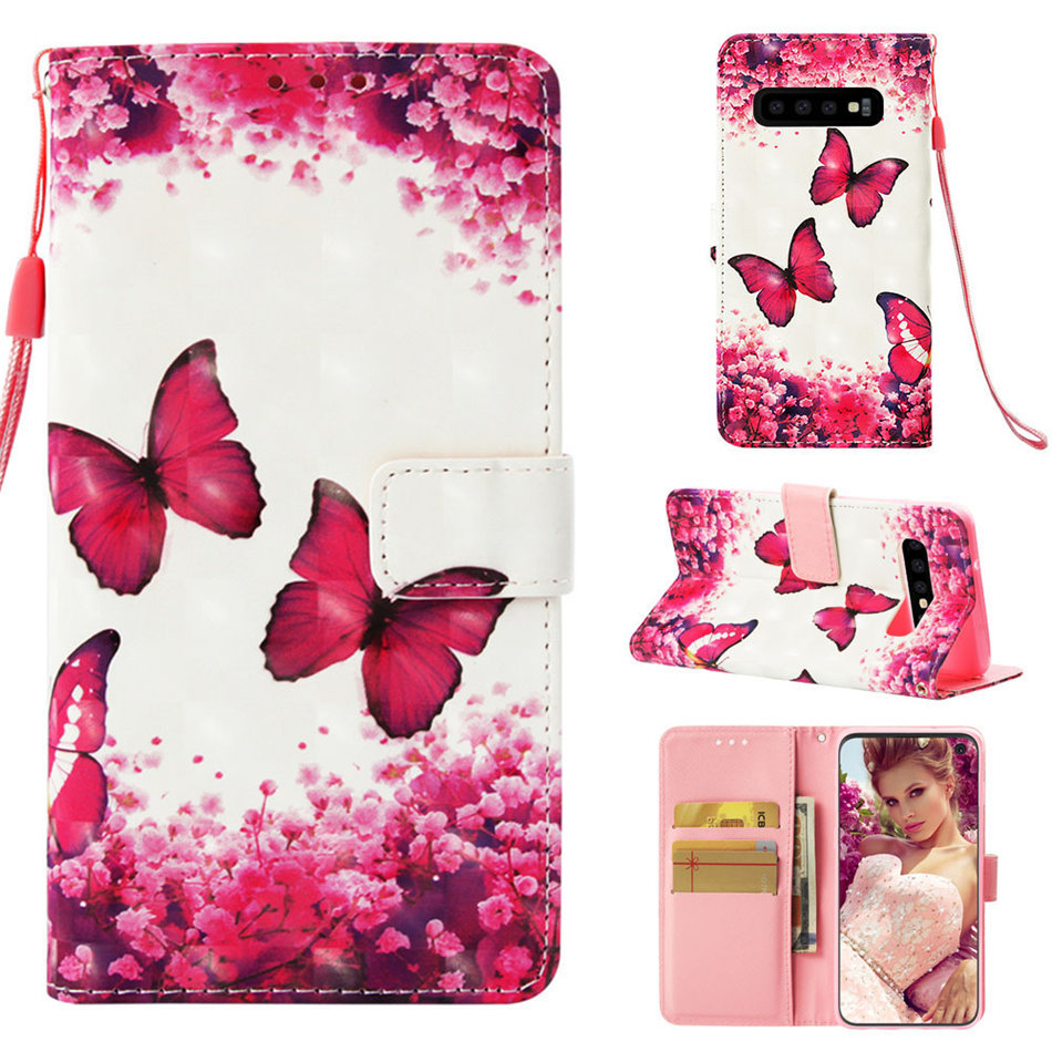 Cute Flip Case For Samsung Galaxy j4 Core j6 Plus j3 j7 Duo j8 j2Pro 2018 A9S Note 9 8 S7 Edge PU Leather Cover Brand New DP03E in Flip Cases from Cellphones Telecommunications