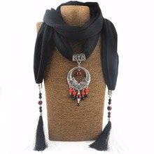 2016 Bijoux Moda Collar Étnico Para Las Mujeres Multicolor Cuentas de cerámica Joyería de La Declaración Collares de la bufanda de Bohemia NK1131