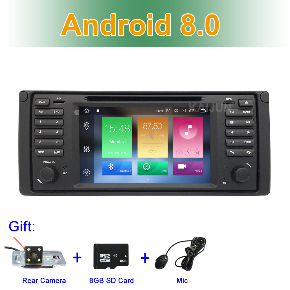 Schermo IPS 8 Core Android 8.0 Car DVD Multimedia Player per BMW E39 con Radio GPS WiFi Bluetooth RDS Canbus