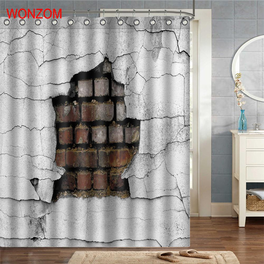 WONZOM 1Pcs Skull Polyester Fabric Creepy Shower Curtain Bathroom Decor Waterproof Cortina De Bano With 12 Hooks Gift 2017 In Curtains From Home